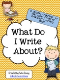 What Do I Write About?