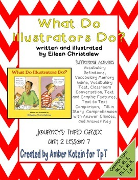 What Do Illustrators Do? Activities 3rd Grade Journeys: Unit 2, Lesson 7