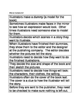 What Do Illustrators Do? Sequencing Sentences