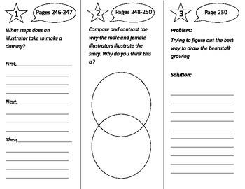 What Do Illustrators Do Trifold - Journeys 3rd Grade Unit 2 Week 2 (2014, 2017)