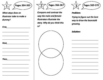 What Do Illustrators Do Trifold - Treasures 3rd Grade Unit 3 Week 3 (2011)