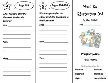 What Do Illustrators Do Trifold - Treasures 3rd Grade Unit 3 Week 5 (2009)