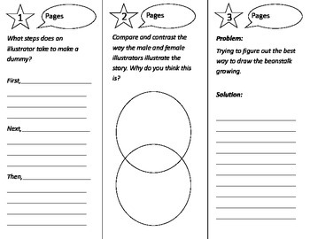 What Do Illustrators Do Trifold - Treasures 3rd Grade Unit 3 Week 5 (2009)