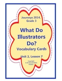What Do Illustrators Do Vocabulary Cards, Unit 2 Lesson 7, Journeys 3rd Grade