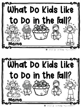 What Do Kids Like to Do in the Fall? Emergent Reader {Ladybug Learning Projects}