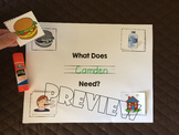 What Do Living Things Need? Cut&Paste Activity Worksheet -food water air shelter