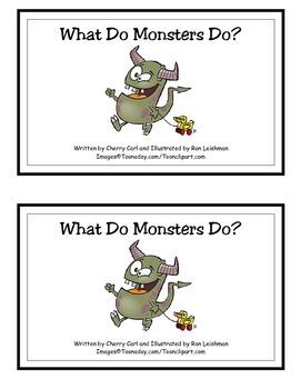 What Do Monsters Do? Reproducible Halloween Reader
