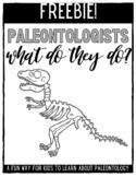 What Do Paleontologists Do True/False Worksheet?
