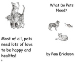 What Do Pets Need?- a non-fiction guided reading book