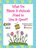 What Do Plants & Animals Need? Trade Books w/NGSS K-LS1.C CCSS (Editable)