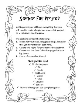 What Do Plants Need To Grow? A Complete Science Fair Project