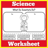 What Is A Scientist | 1st 2nd 3rd Grade | Worksheet Activi