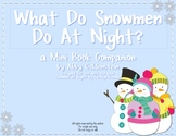 What Do Snowmen Do at Night? {Snowmen at Night mini book c