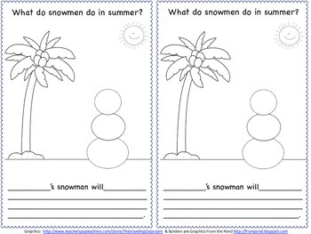 What Do Snowmen Do in Summer? {1,000 Follower FREEBIE}