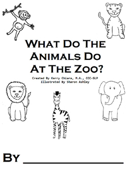 What Do The Animals Do At The Zoo Printable BW Book & ques