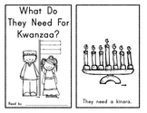 What Do They Need for Kwanzaa? Emergent Reader - Holidays Around the World!