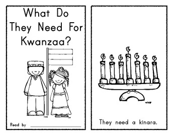What Do They Need For Kwanzaa Emergent Reader Holidays