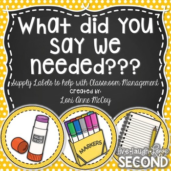 What Do We Need Again? Classroom Supply Labels for the Whiteboard