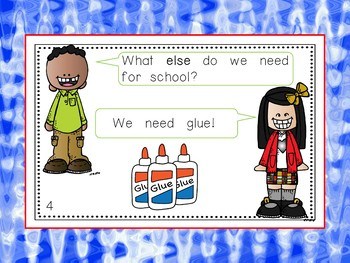 What Do We Need for School? - Audio/Visual Book - PowerPoint