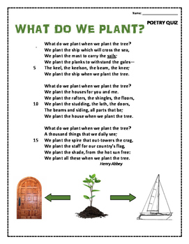 What Do We Plant? Poem and Quiz