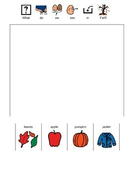 What Do We See in Fall? (Boardmaker PDF)