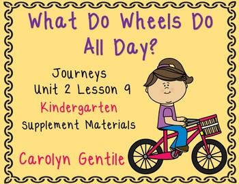 What Do Wheels Do? Journeys Kindergarten Unit 2 Lesson 9 Sup. Act.