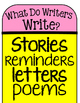 What Do Writers Writer Poster