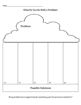 What Do You Do With A Problem? opportunities, solutions, growing, conflict