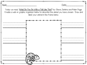 """""""What Do You Do With A Tail Like This"""" Worksheet"""