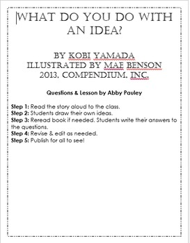 What Do You Do With An Idea? EDITABLE LESSON
