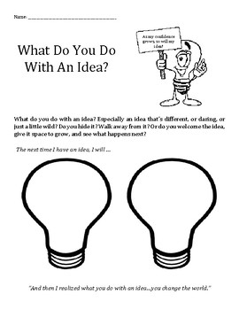 What Do You Do With An Idea? confidence, positive, growing, learning
