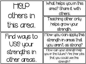 What Do You Do With a Strength- Anchor Chart