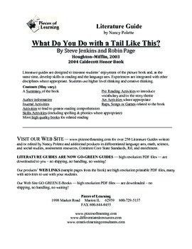 What Do You Do With a Tail Like This Literature Guide
