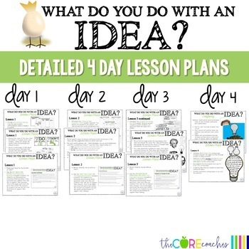 What Do You Do With an Idea: Interactive Read-aloud Lesson Plans Activities 3-4