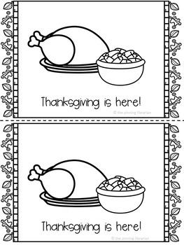 Thanksgiving Emergent Reader