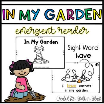 In My Garden- emergent reader