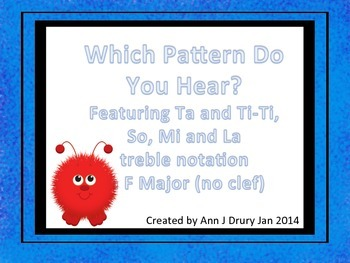 What Do You Hear? A Game for Identifying So, Mi and La Pitch Patterns (no clef)