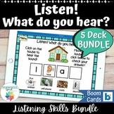 Listen! What Do You Hear? Boom Cards™ Bundle Speech Therap