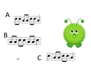 What Do You Hear? Identifying Pitch Patterns - Ta, Ti-Ti, So and Mi (no clef)