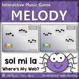 Where's My Web?  Interactive Melody Game (Sol Mi La)
