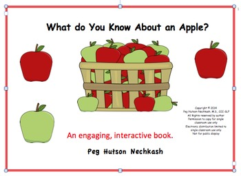 What Do You Know About an Apple? An Interactive Book