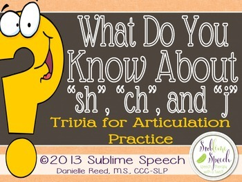"""What Do You Know About """"sh"""", """"ch"""" & """"j""""?"""