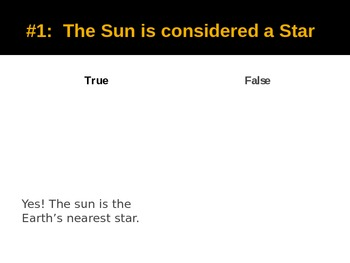What Do You Know About the Sun- Game
