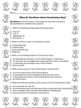 FREEBIE What Do You Know? Patriot Day, Constitution Day, and Columbus Day