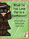 What Do You Look For In A Sentence?