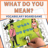 Tier 2 Vocabulary Board Game for Multiple Meaning Words