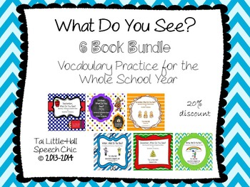 What Do You See? Vocabulary and Matching 6 Book Bundle