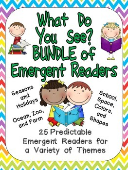 What Do You See BUNDLE of BOOKS Preschool or Kindergarten MANY Themes