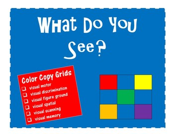 NO PREP What Do You See? Color Copy Grids