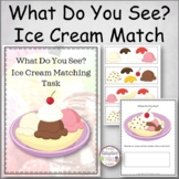 What Do You See? Ice Cream Matching Task